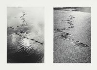 Wet sand windy, Morecambe Bay, Lancashire, October 1976